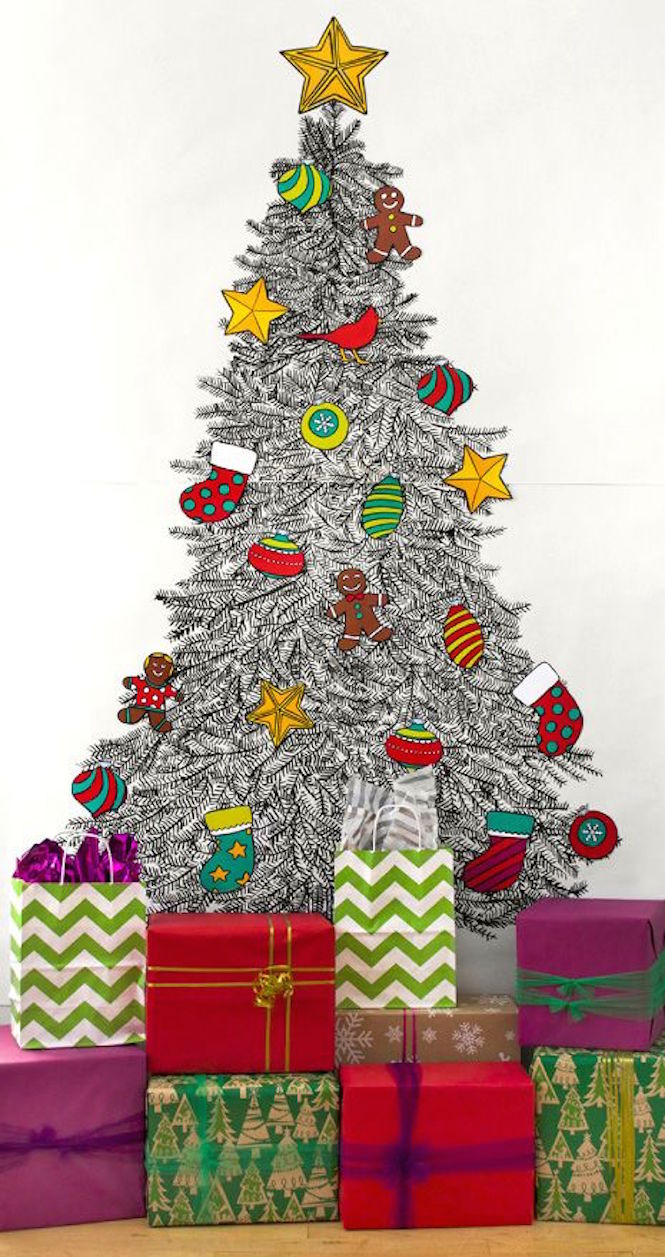 Caravan Shoppe printable tree - Alternative Christmas trees via First Sense