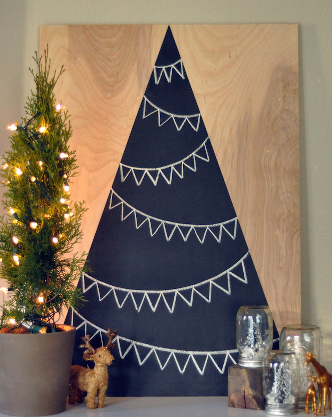 Chalkboard Christmas Tree - Alternative Christmas trees via First Sense