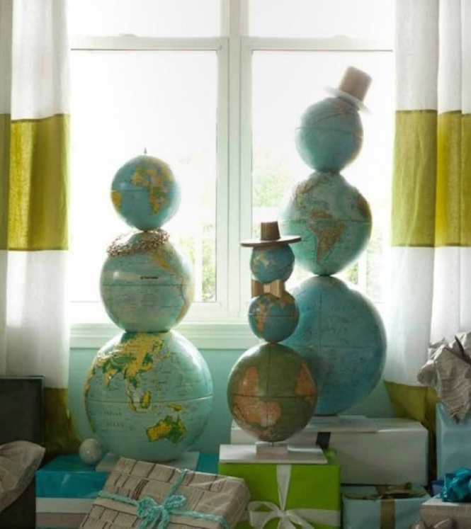 Globe men - Alternative Christmas trees via First Sense