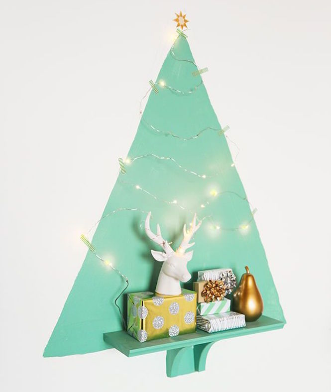 Painted tree shelf - Alternative Christmas trees via First Sense