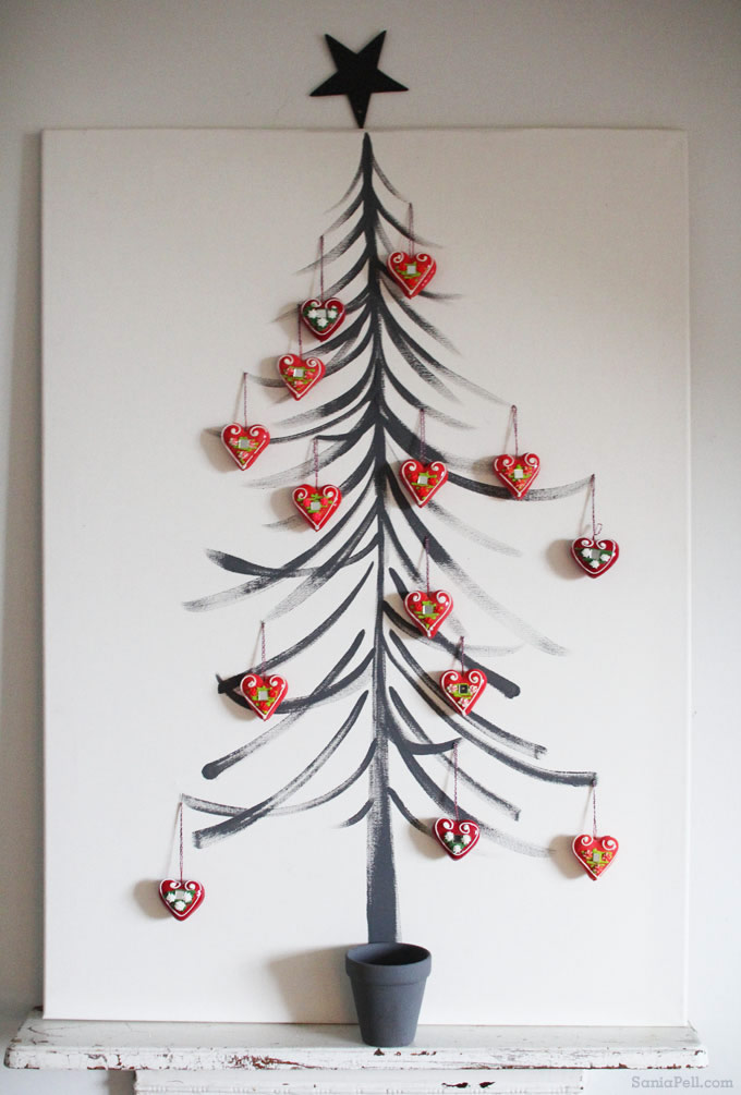 Sania Pell Painted Tree - - Alternative Christmas trees via First Sense