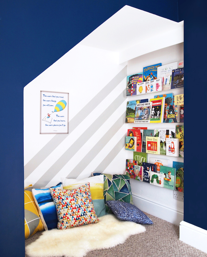Arty Home - Kid's Reading Nook - Painted Stripes