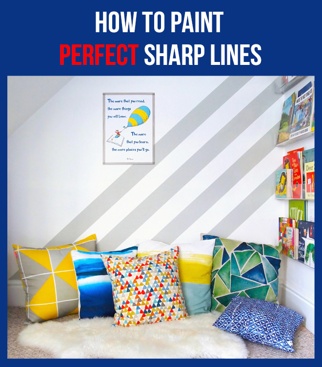 Arty Home - Painted Stripes in Kid's Reading Nook