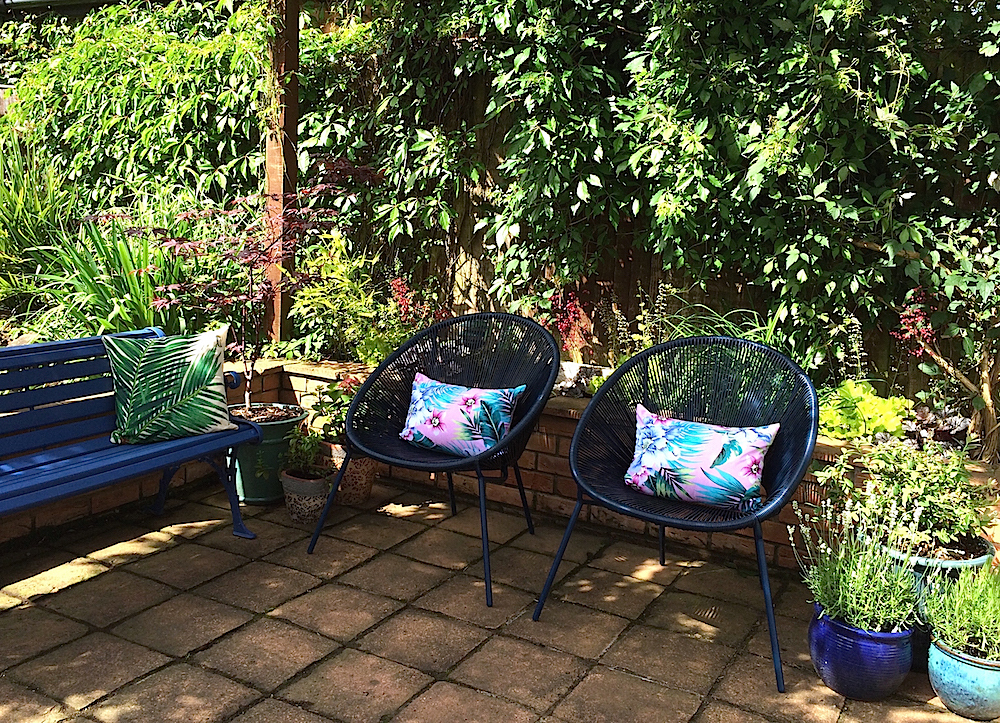 John Lewis Salsa Garden chairs and DIY cushions