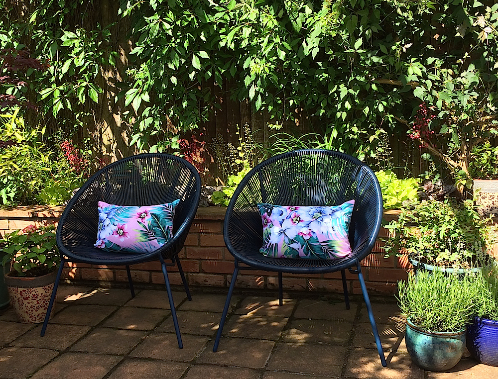 John Lewis Salsa patio chairs with DIY cushions.jpg