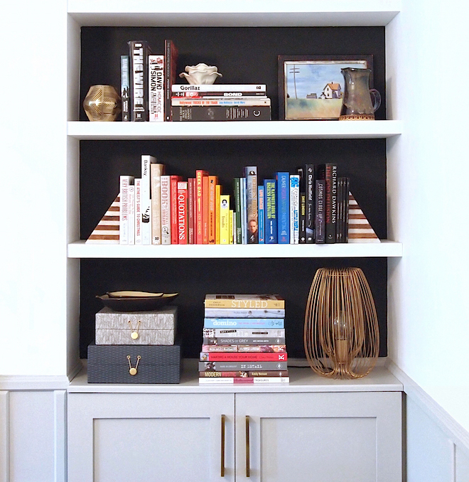 Built In Bookcase Styled by Arty Home