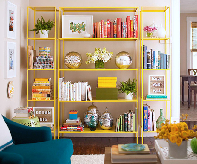 ikea-vittsjo-shelves-with-colour-coded-books