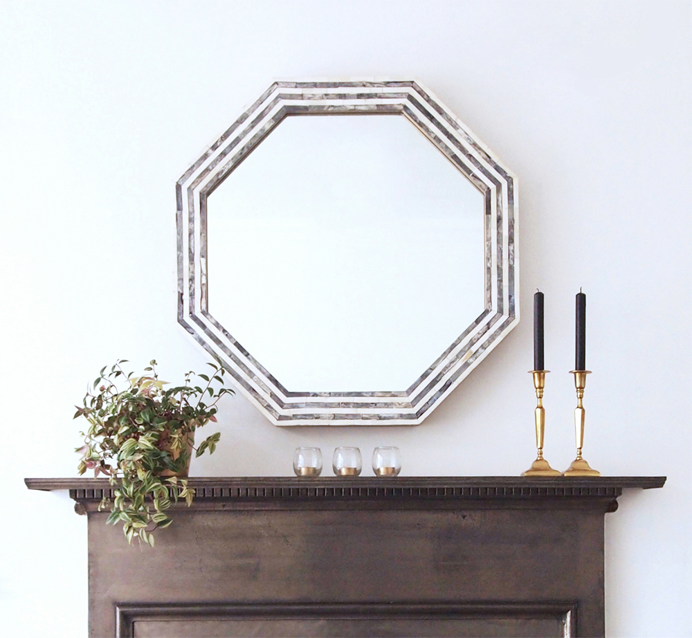 Dining room makeover - mantel mirror - by Arty Home