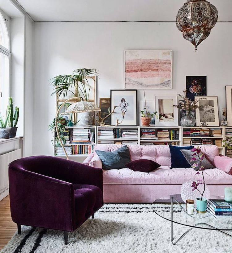 Amelia Widell's home as seen in Elle Decoration May 2017