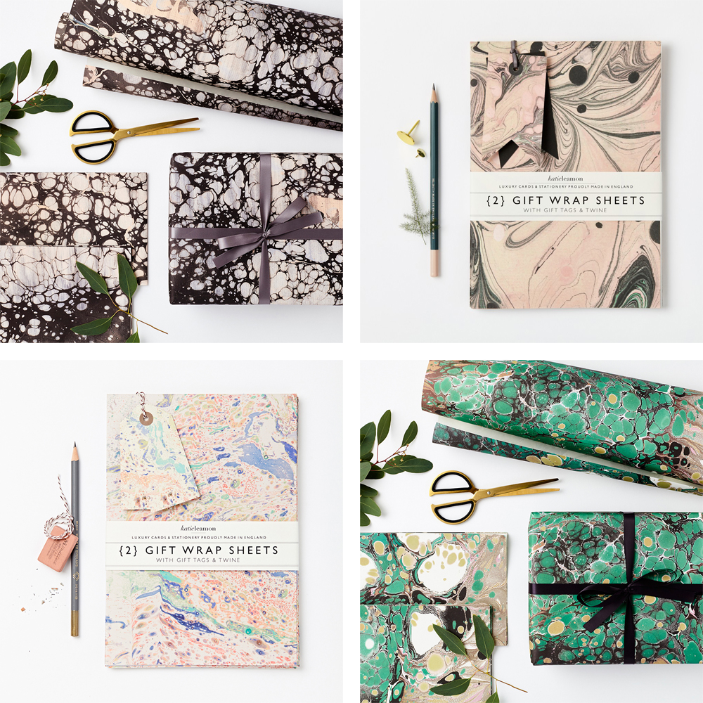 Katie Leamon marble wrapping papers