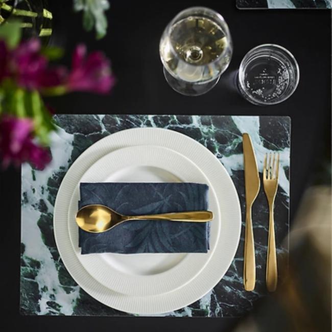 IKEA TILLAGD gold cutlery