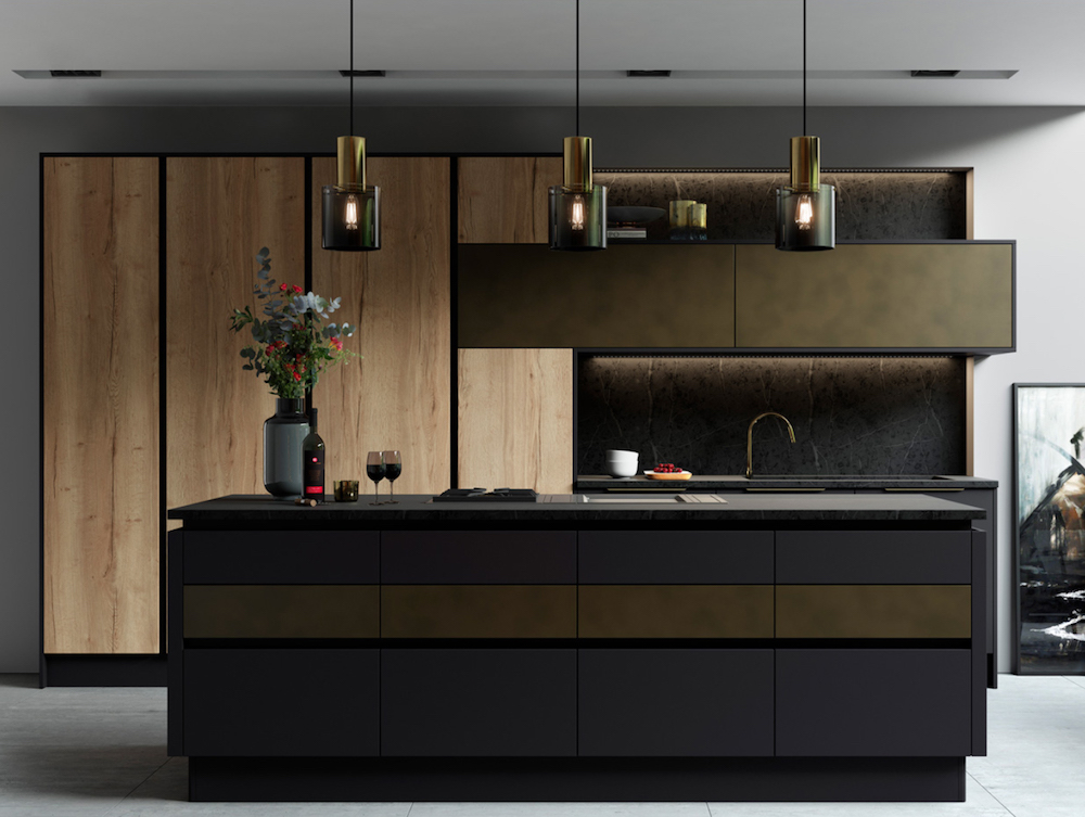 If A Kitchen Can Be Sexy, This Is It. Iu0027ll Spare You The Joke About A  Threesome And Instead Iu0027ll Just Say That Oak, Matt Graphite And Tarnished  Brass Make A ...