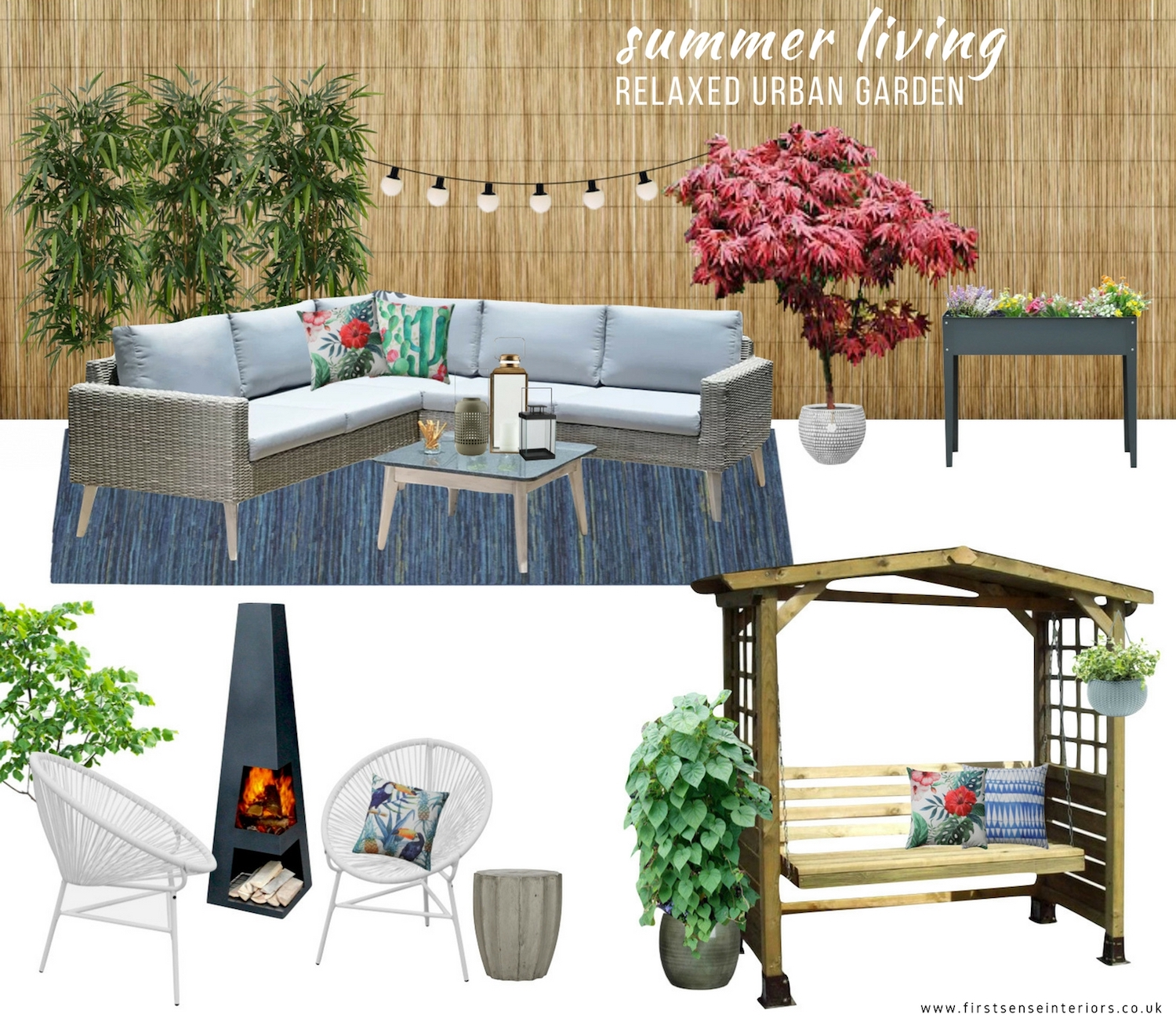 Relaxed Urban Garden Moodboard - First Sense