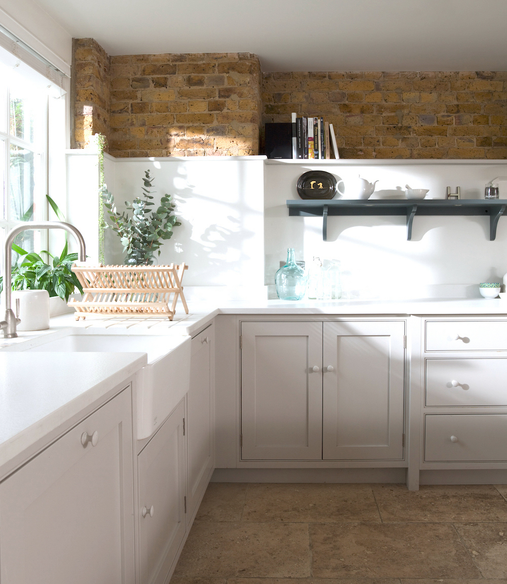 Hackney kitchen with exposed brick border by Humphrey Munson