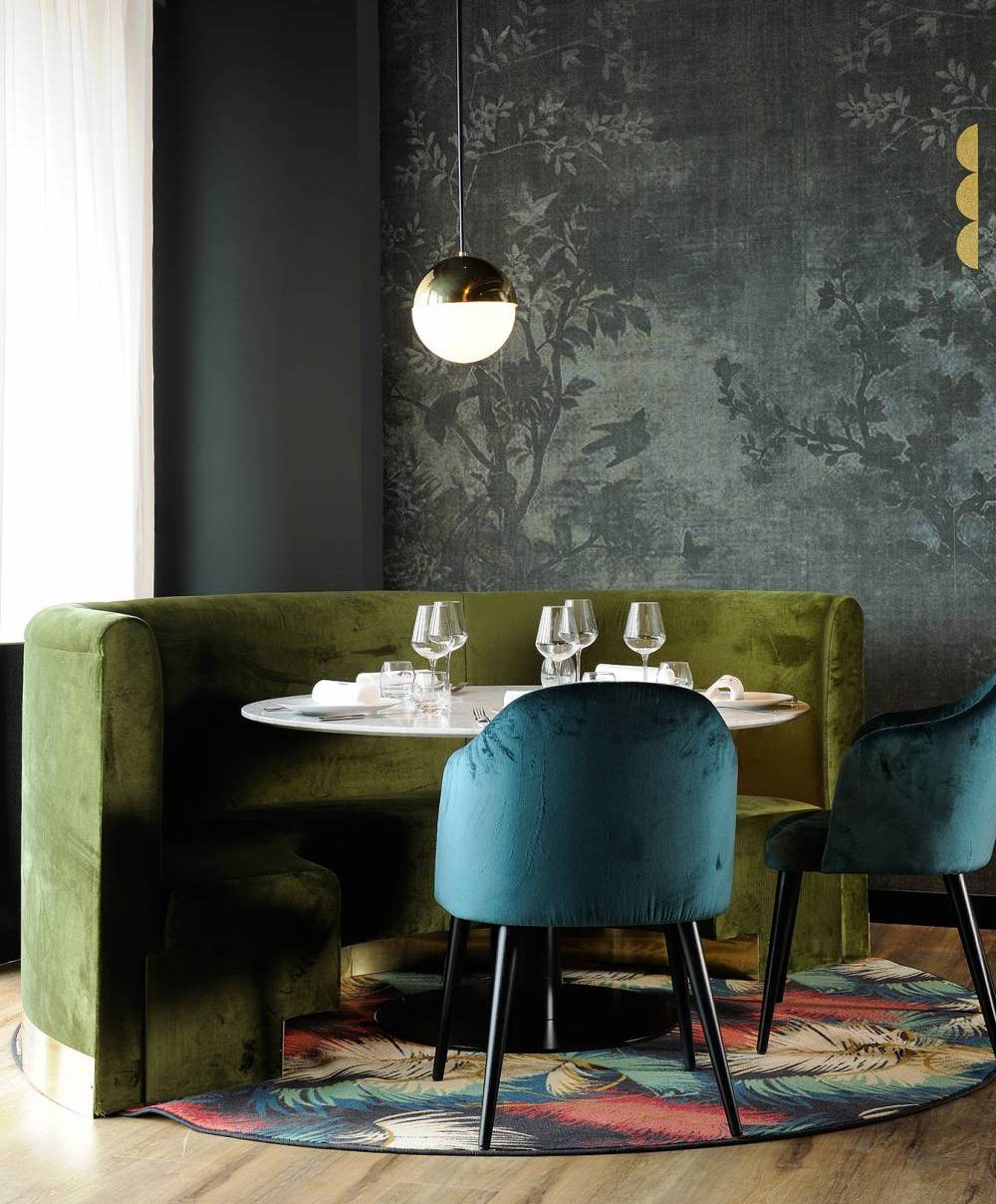 La Forêt Noire designed by Claude Cartier || Olive green colour inspiration by First Sense