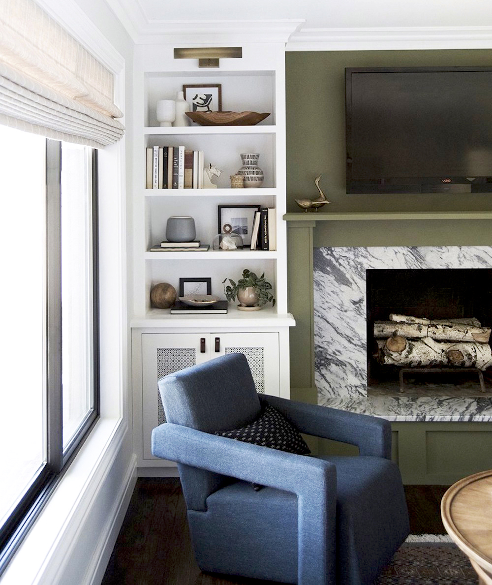 Room for Tuesday Living Room || Olive green colour inspiration by First Sense