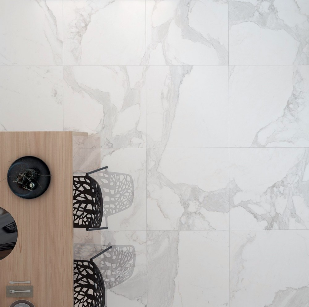 Italia Calacatta Polished Tiles from Porcelain Superstore