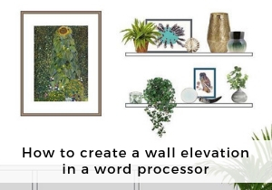 How to create a wall elevation in a word processor