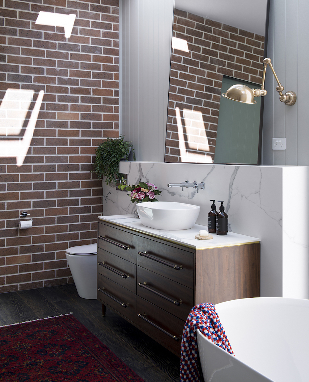 Bathroom renovation tips by First Sense || Marble-effect porcelain