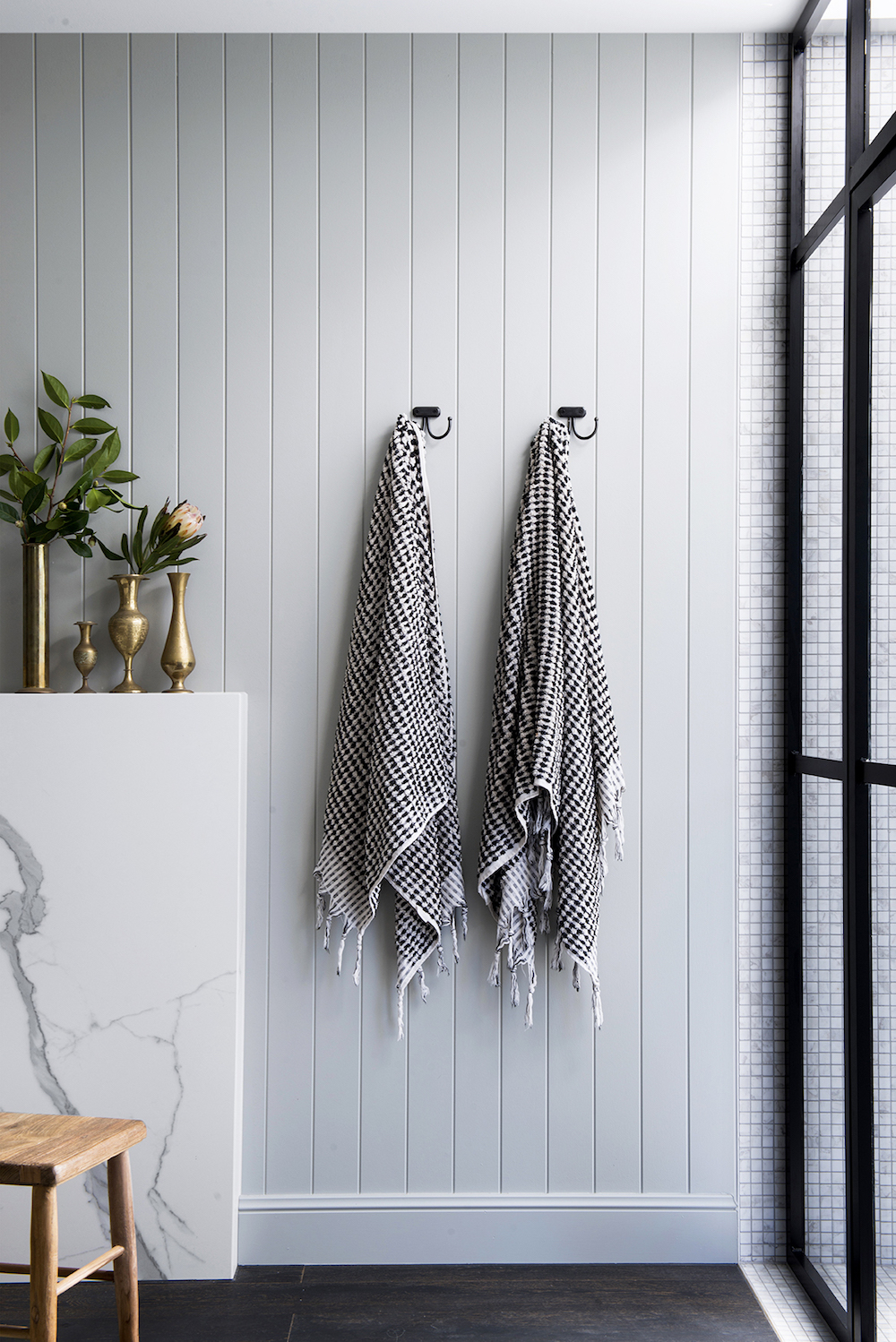 Bathroom renovation tips by First Sense || Pretty bathroom towels