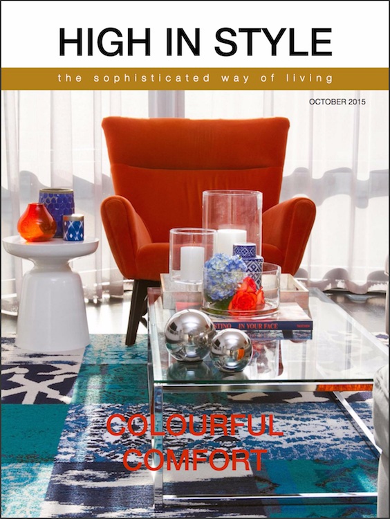 First Sense Interiors featured in High In Style October 2015