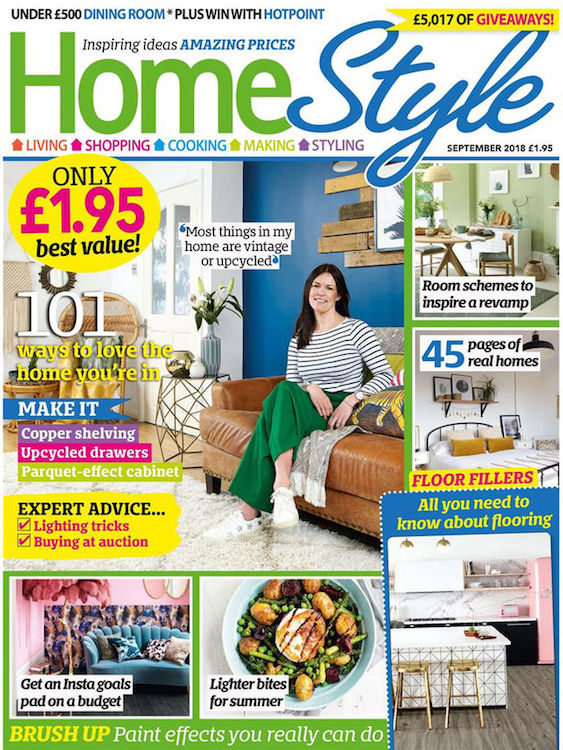 First Sense Interiors featured in Home Style magazine September 2018