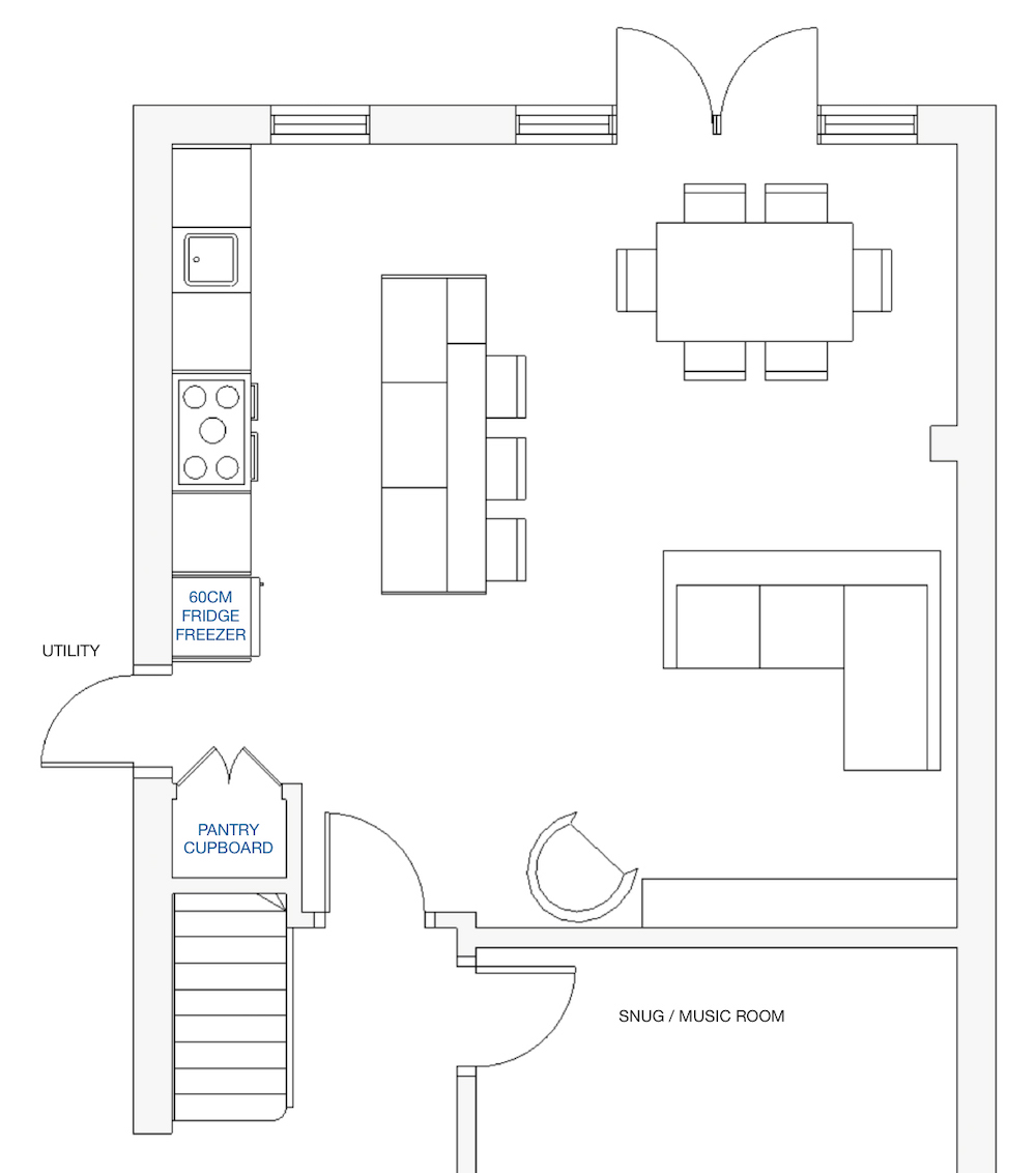 Kitchen layout 1 || First Sense kitchen renovation inspiration