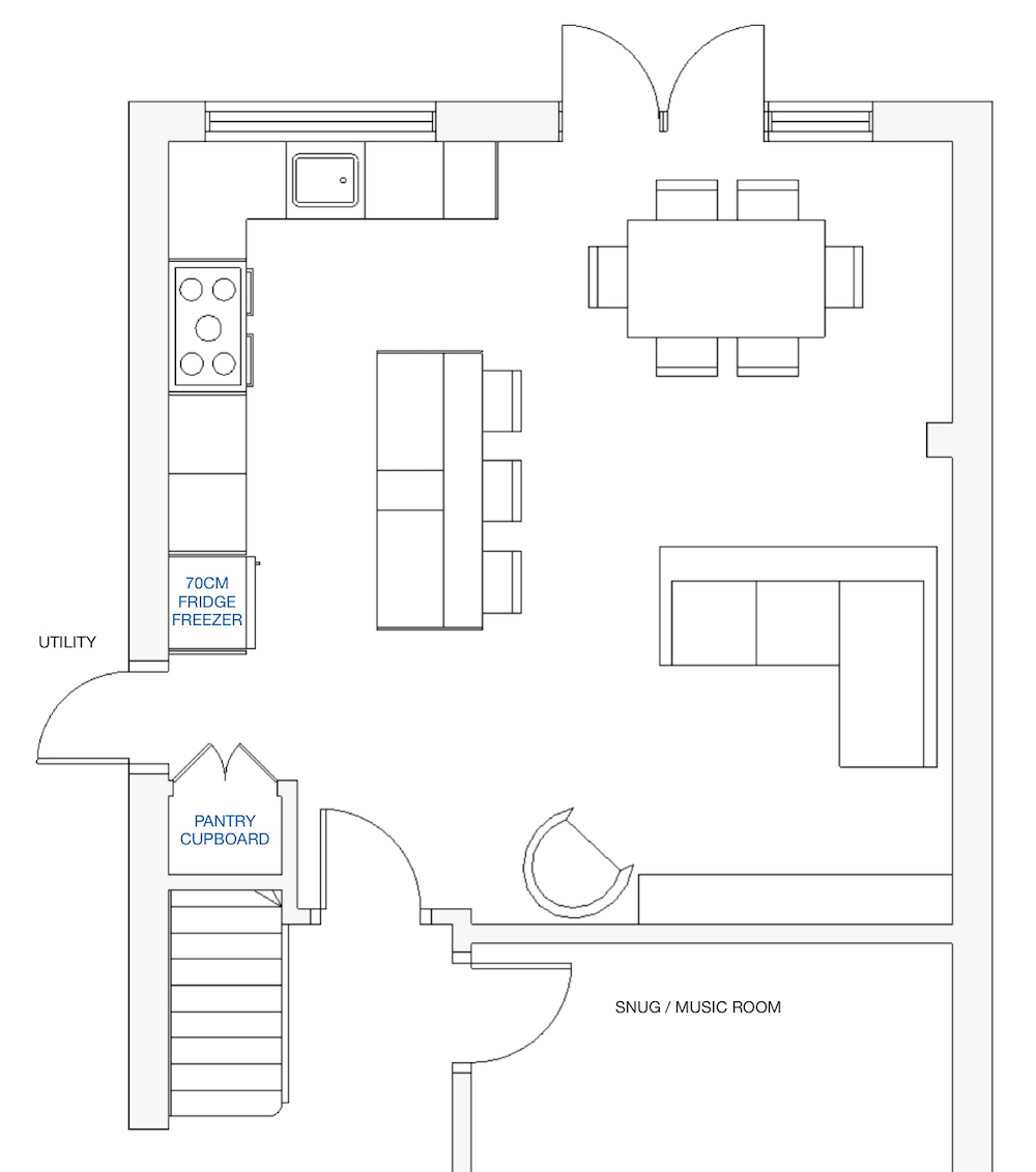 Kitchen layout 2 || First Sense kitchen renovation inspiration