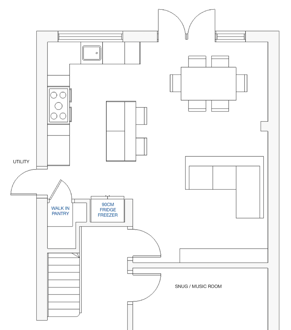 Kitchen layout 3 || First Sense kitchen renovation inspiration