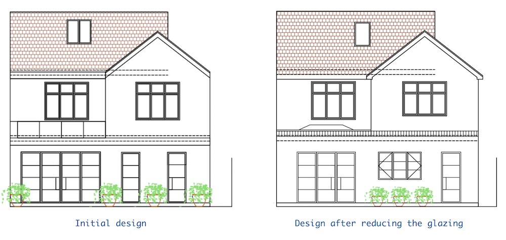Side by side design comparison || First Sense kitchen renovation inspiration