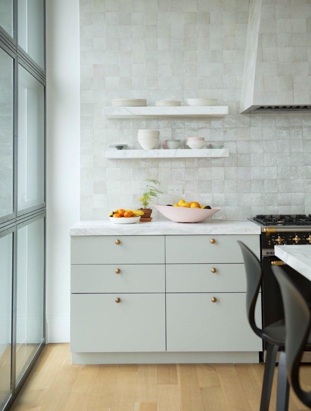 Zellige tile splashback || First Sense kitchen renovation inspiration