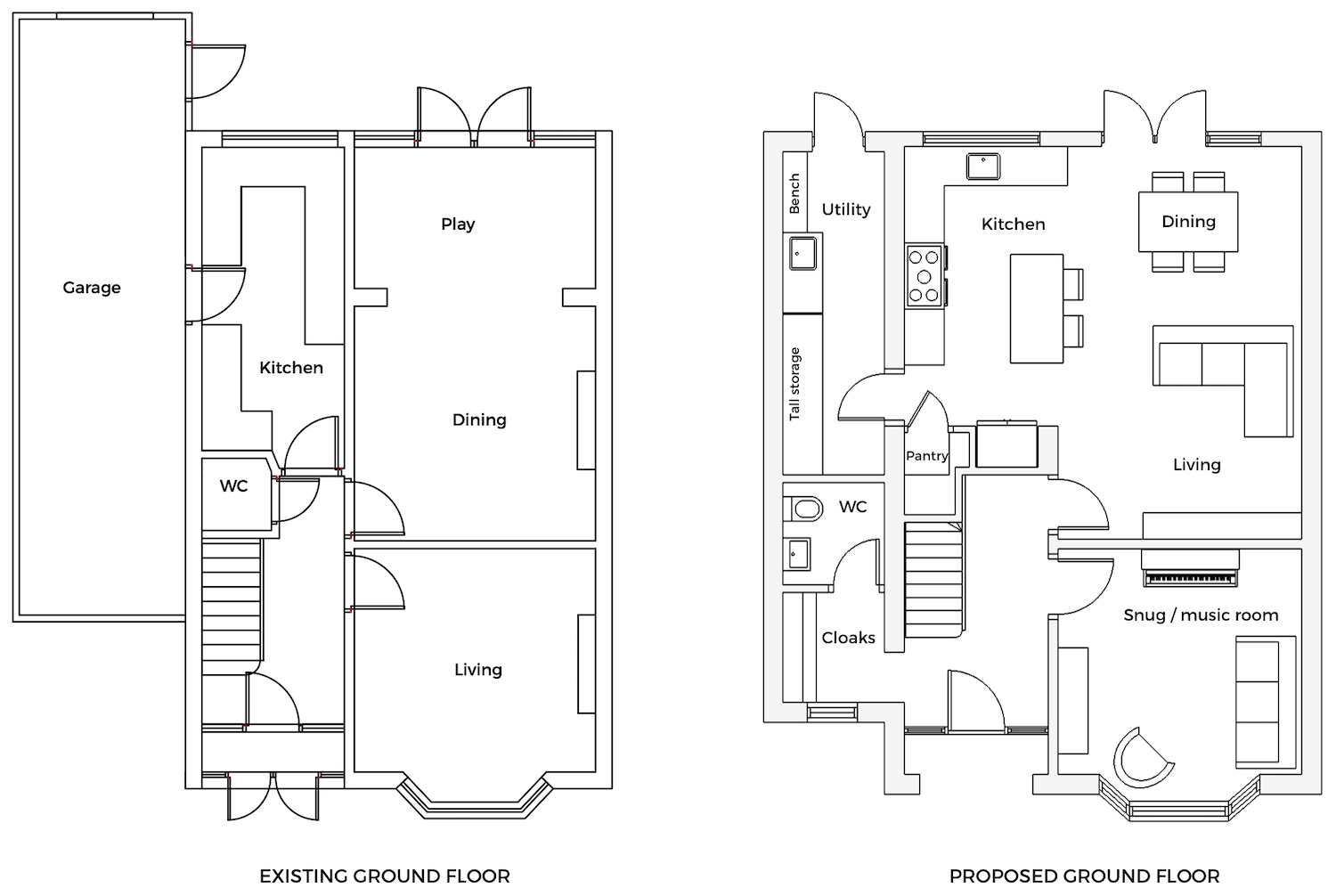 Renovation Diary All The Floor Plans First Sense Interiors