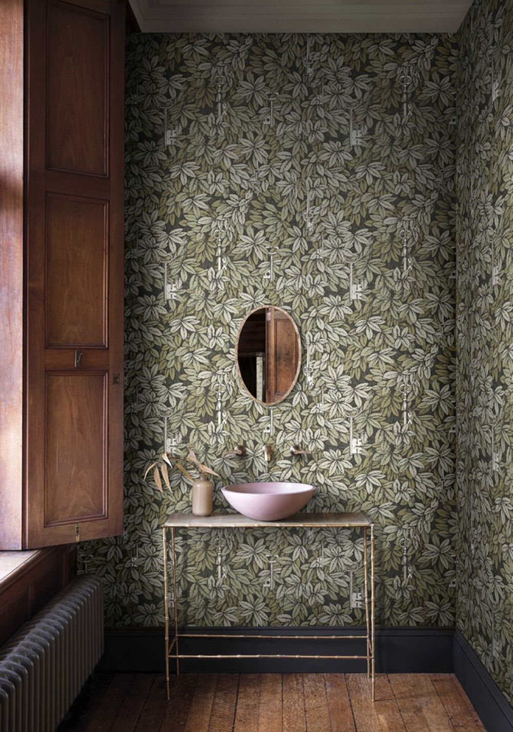 Best botanical wallpapers || Cole & Son - Chiavi Segrete - Gilver & Gold