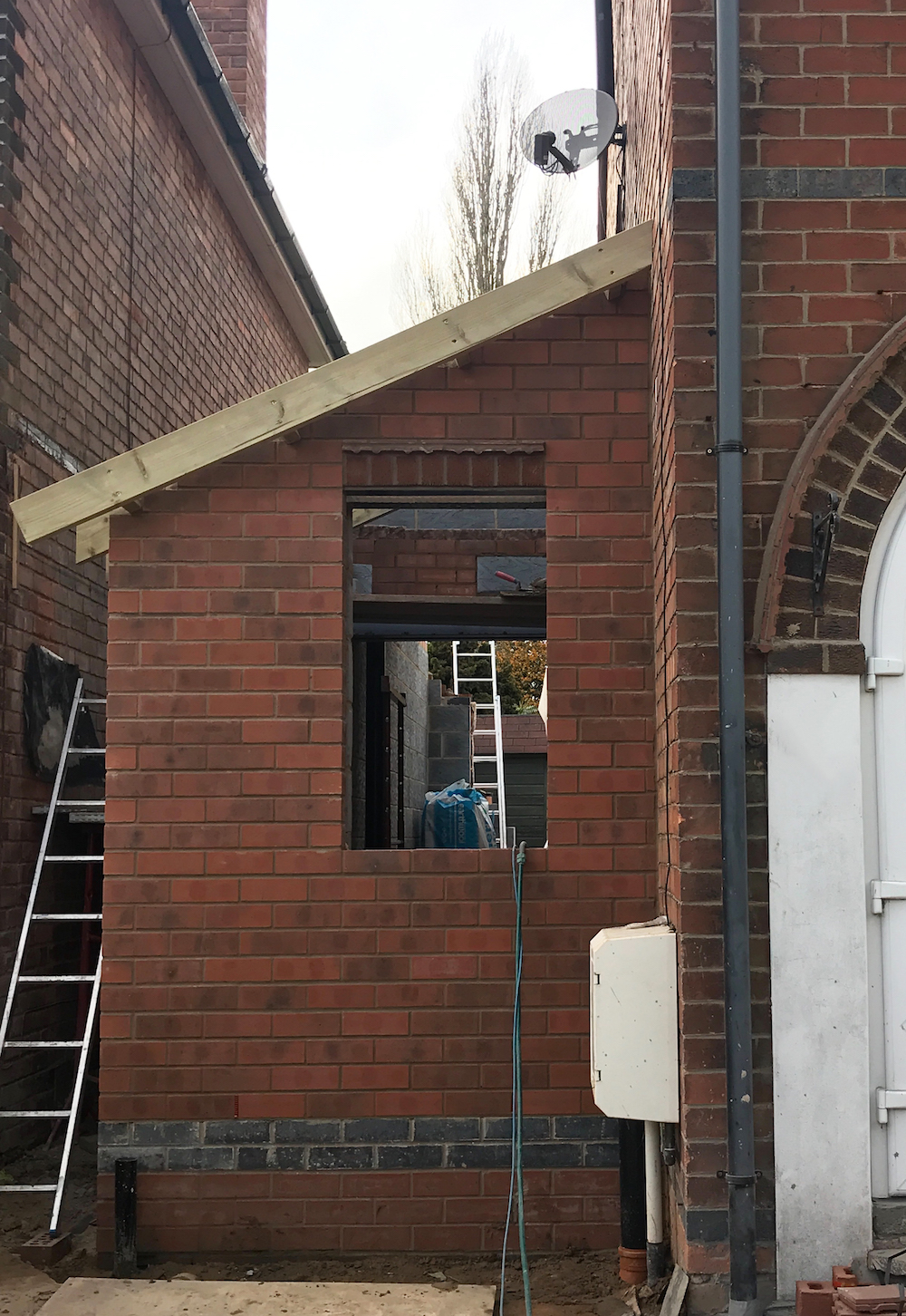 First Sense renovation - side extension shell