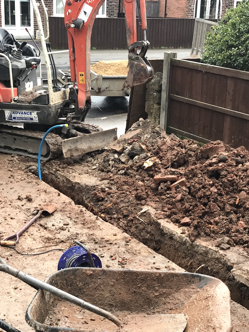 First Sense Renovation - Laying new water mains pipe