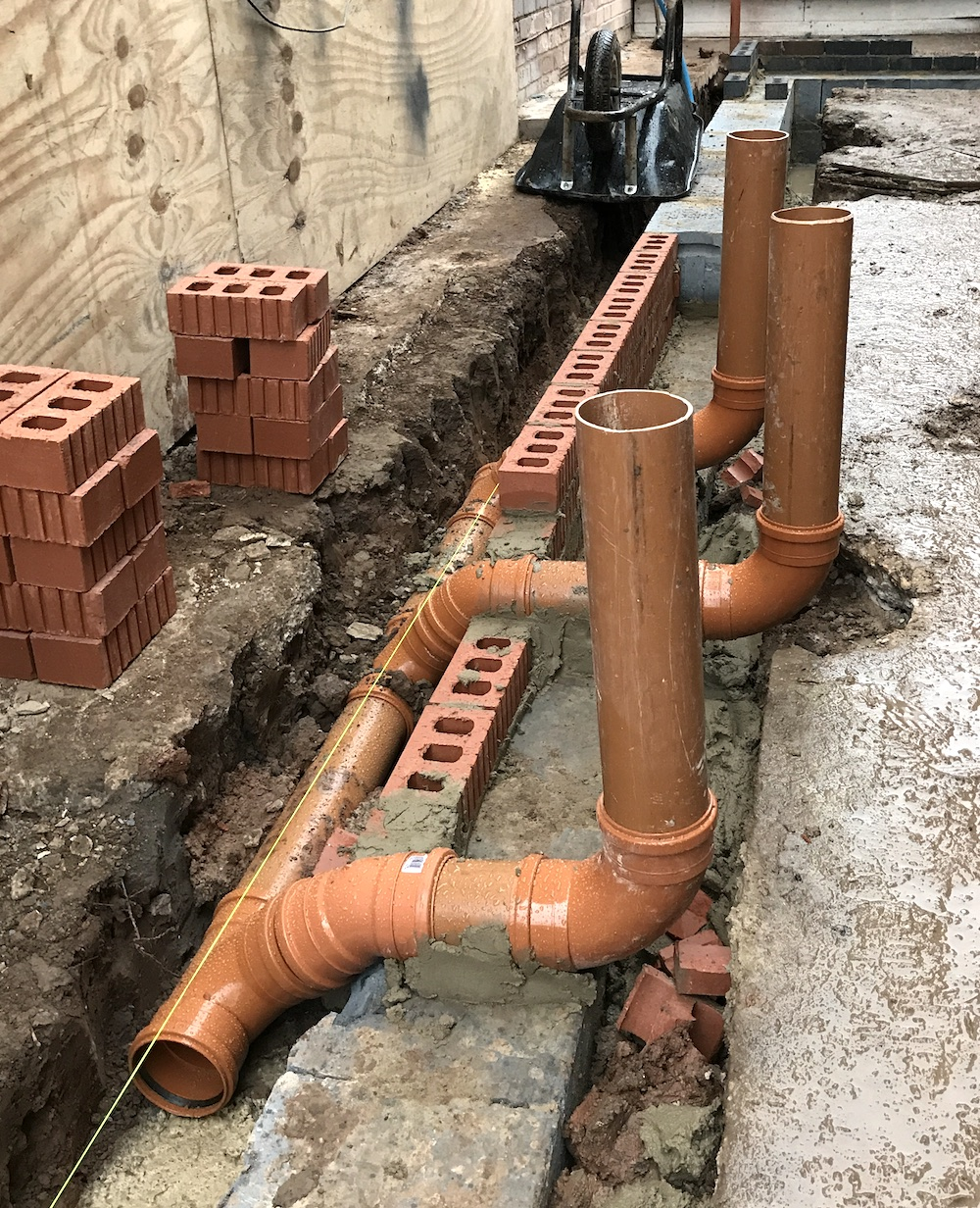 First Sense Renovation - New drainage pipes