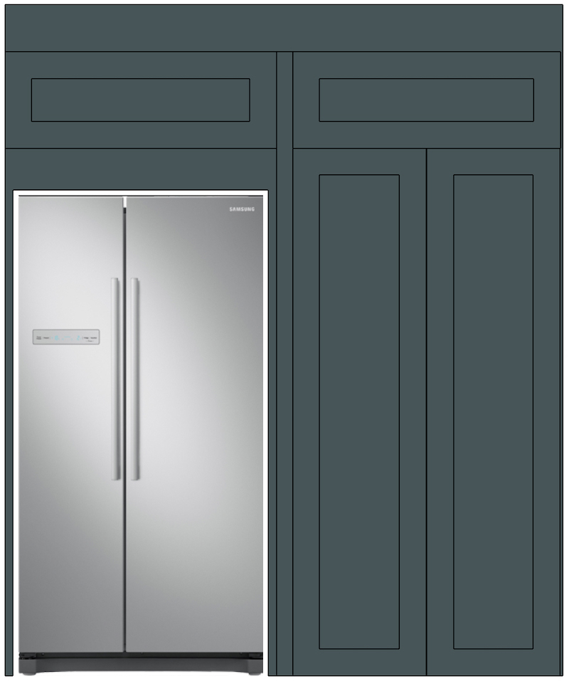 First Sense Kitchen - Fridge and pantry wall