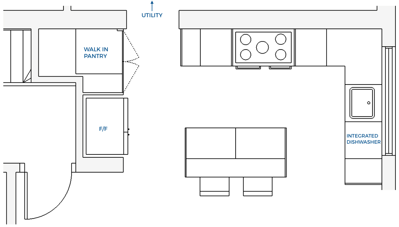 First Sense Reno - Kitchen layout