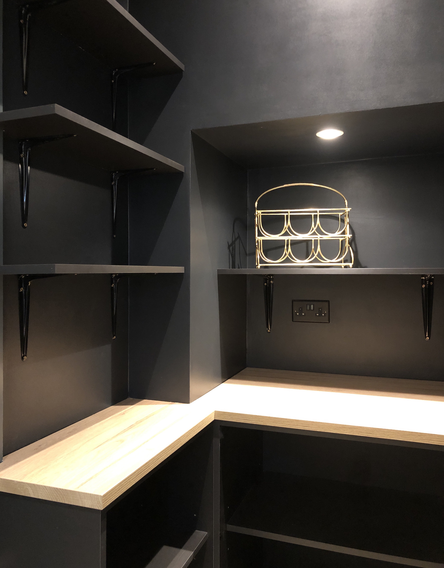 First Sense Interiors - black pantry