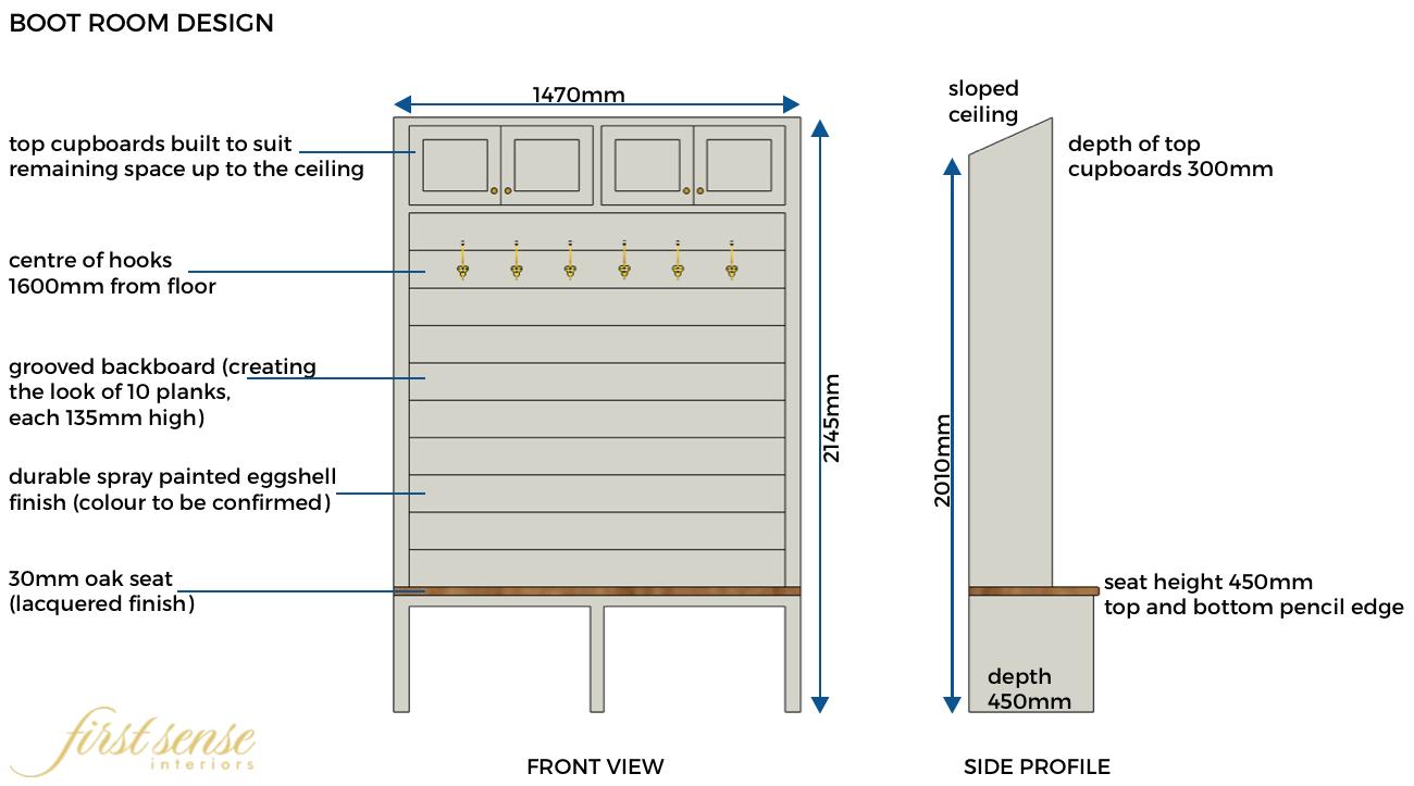 First Sense Interiors furniture design - boot room design