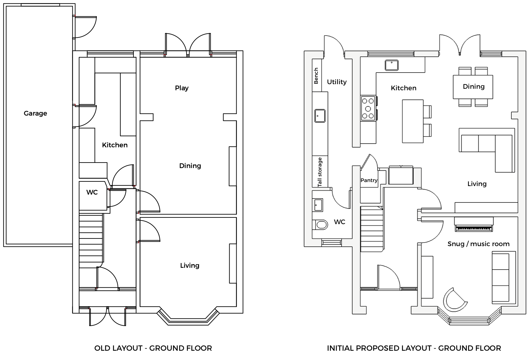 First Sense Reno - old layout vs initial proposed layout