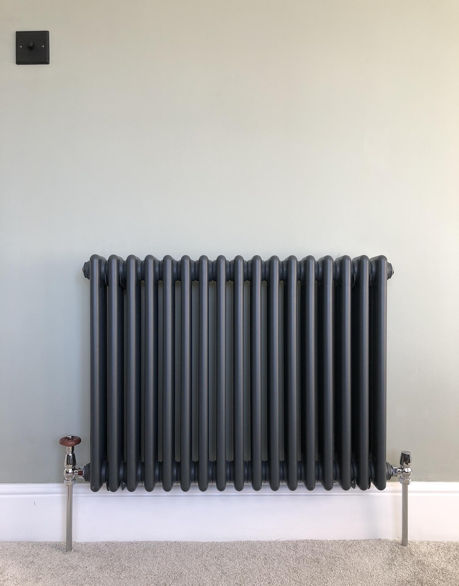 Anthracite triple column radiator
