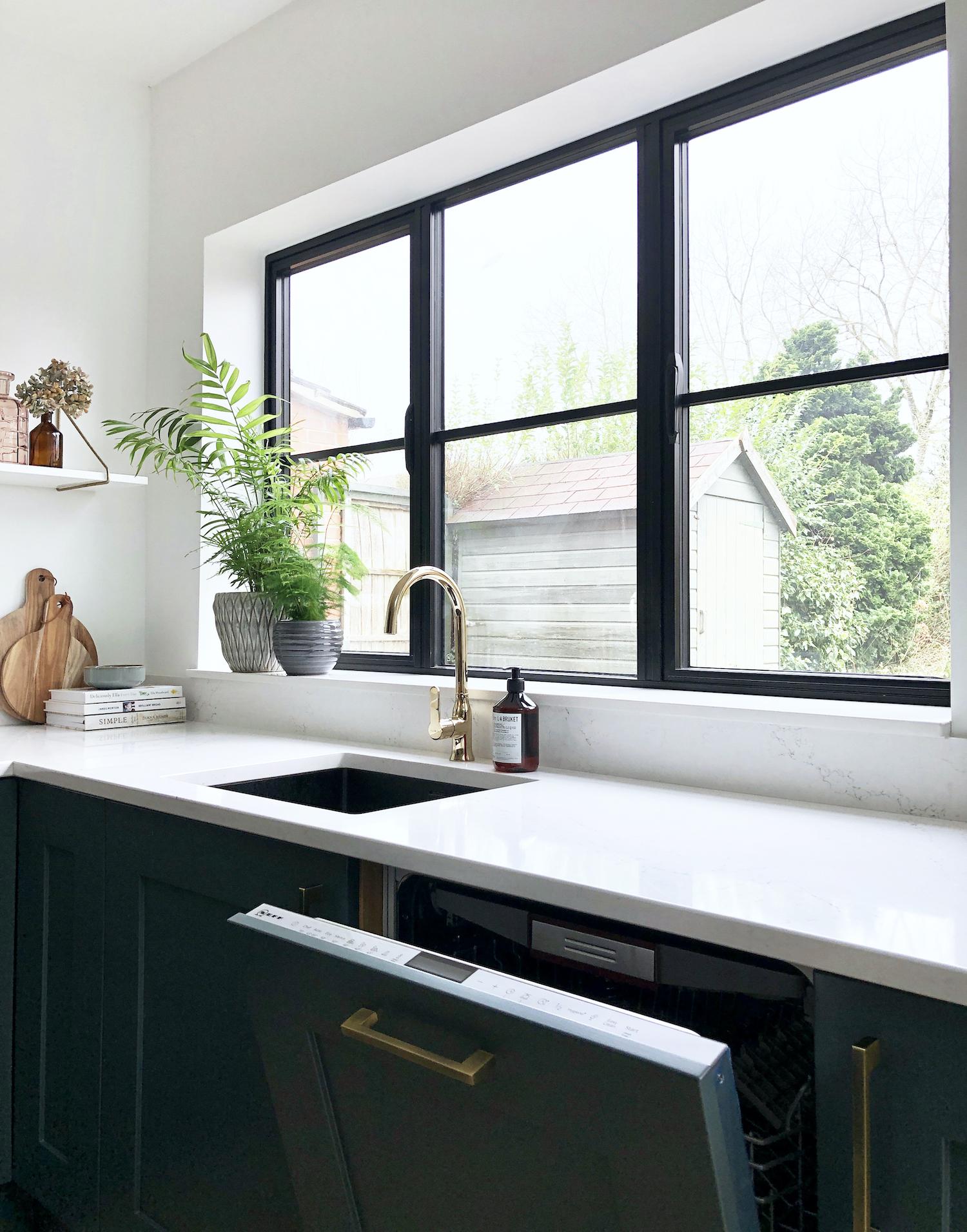First Sense Interiors - blue shaker kitchen - integrated dishwasher