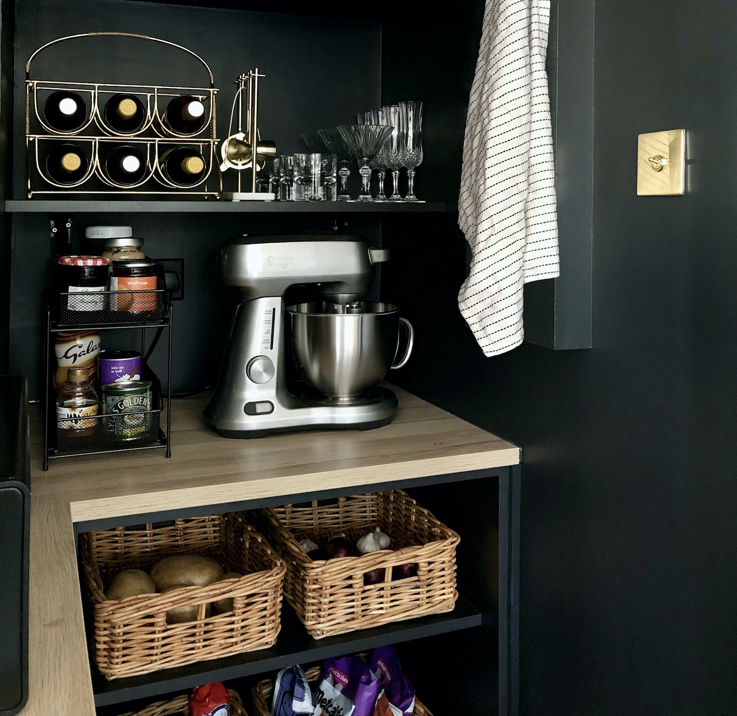 First Sense Interiors - off black walk in pantry