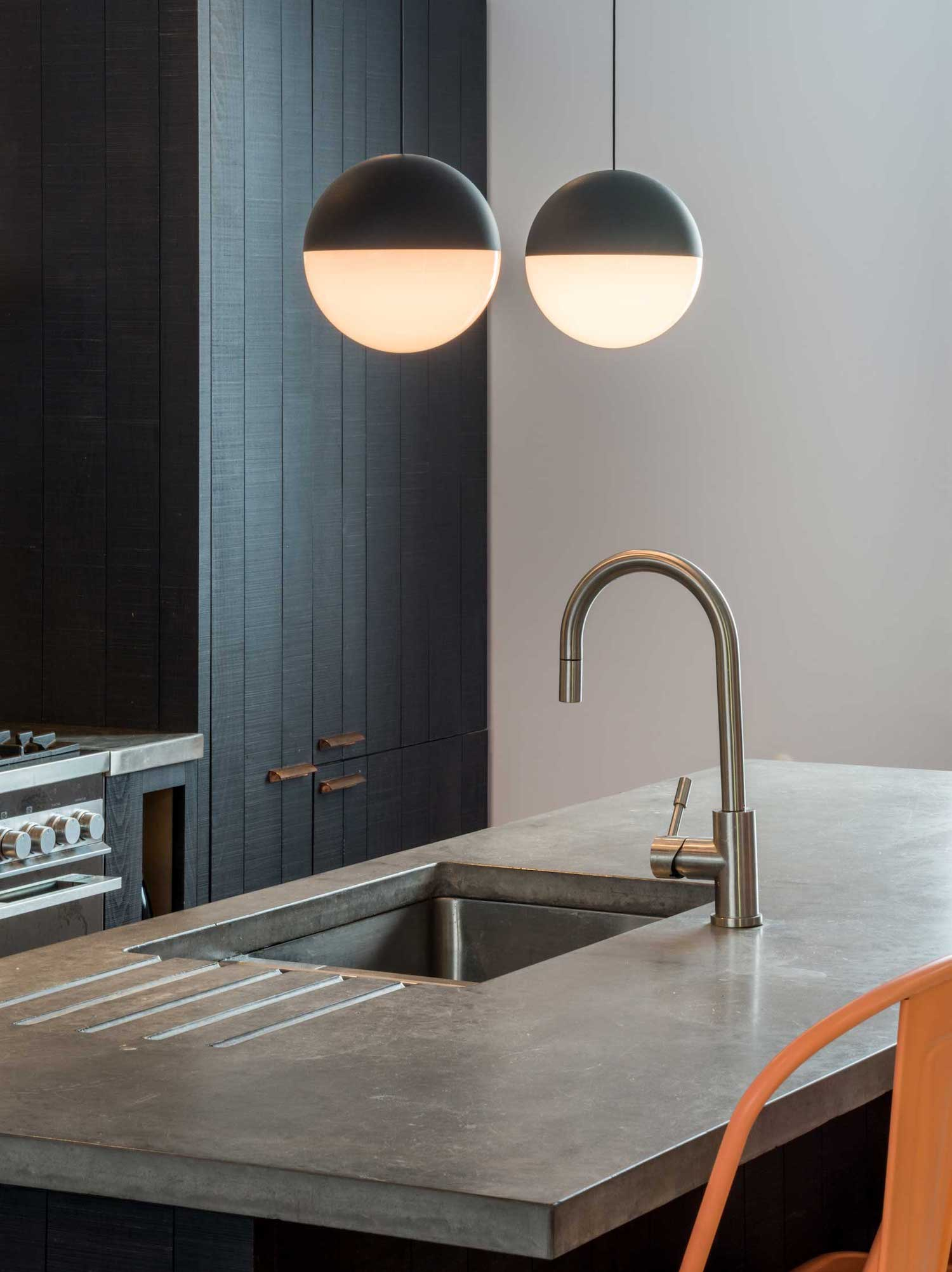 Urban kitchen with concrete worktops